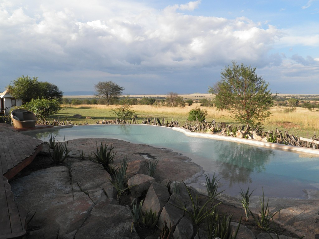 The view from the pool at Sayari Camp in the Lamai Wedge of the northern Serengeti.